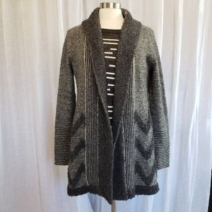 Anthro Grey Wool Cardigan by Angel of the north